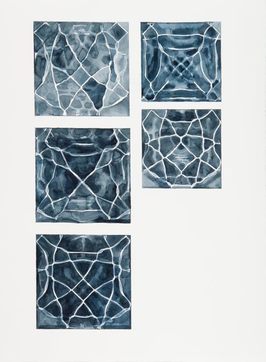 """Instances #9,"" 2011; Watercolor on Paper; 30"" X 22"""