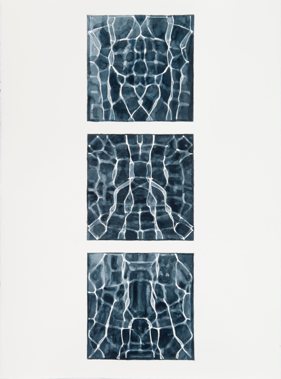 """Instances #8,"" 2011; Watercolor on Paper; 30"" X 22"""