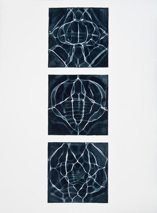 """Instances #4,"" 2011; Watercolor on Paper; 22"" X 30"""