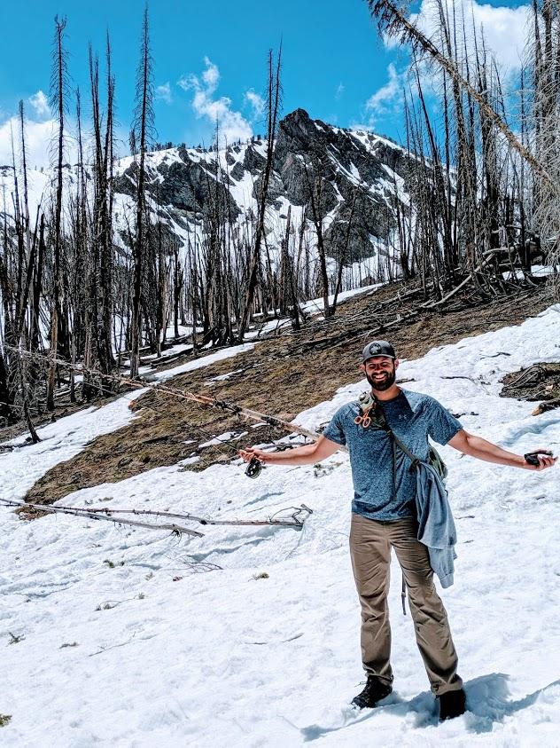 Hiking up to Baker Lake