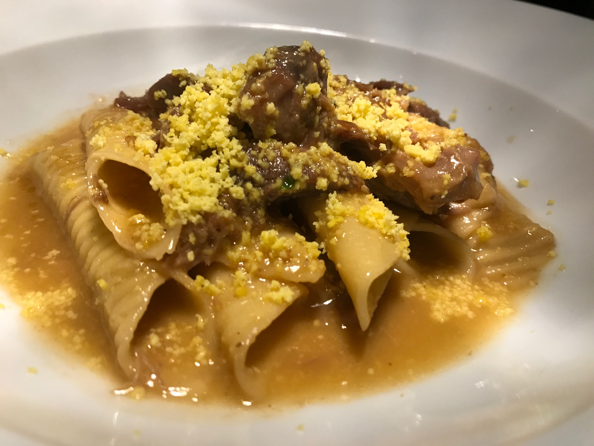 Second Course - garganelli with braised pheasant