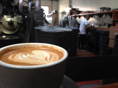 Cappucino at Four Barrel Coffee
