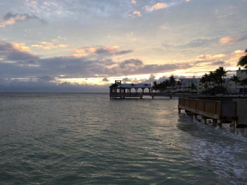 The sun setting over the Keys