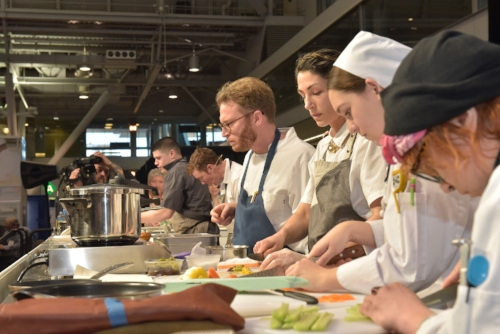 The line of Chefs and their partners in crime
