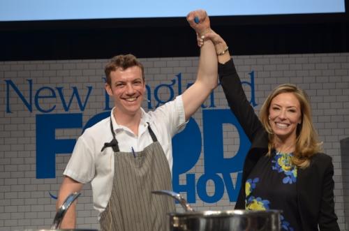 Winner Chef Carl Dooley and Emcee extraordinaire Jenny Johnson