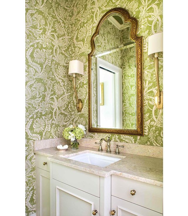 I've never shown this bathroom to anyone cause it doesn't fit instas format... but I saw it the other day and was like I LOVE this powder room...Screw it I'm going to post it. So hope you like it. #MeriwetherDesignGroup @jeffherrphoto
