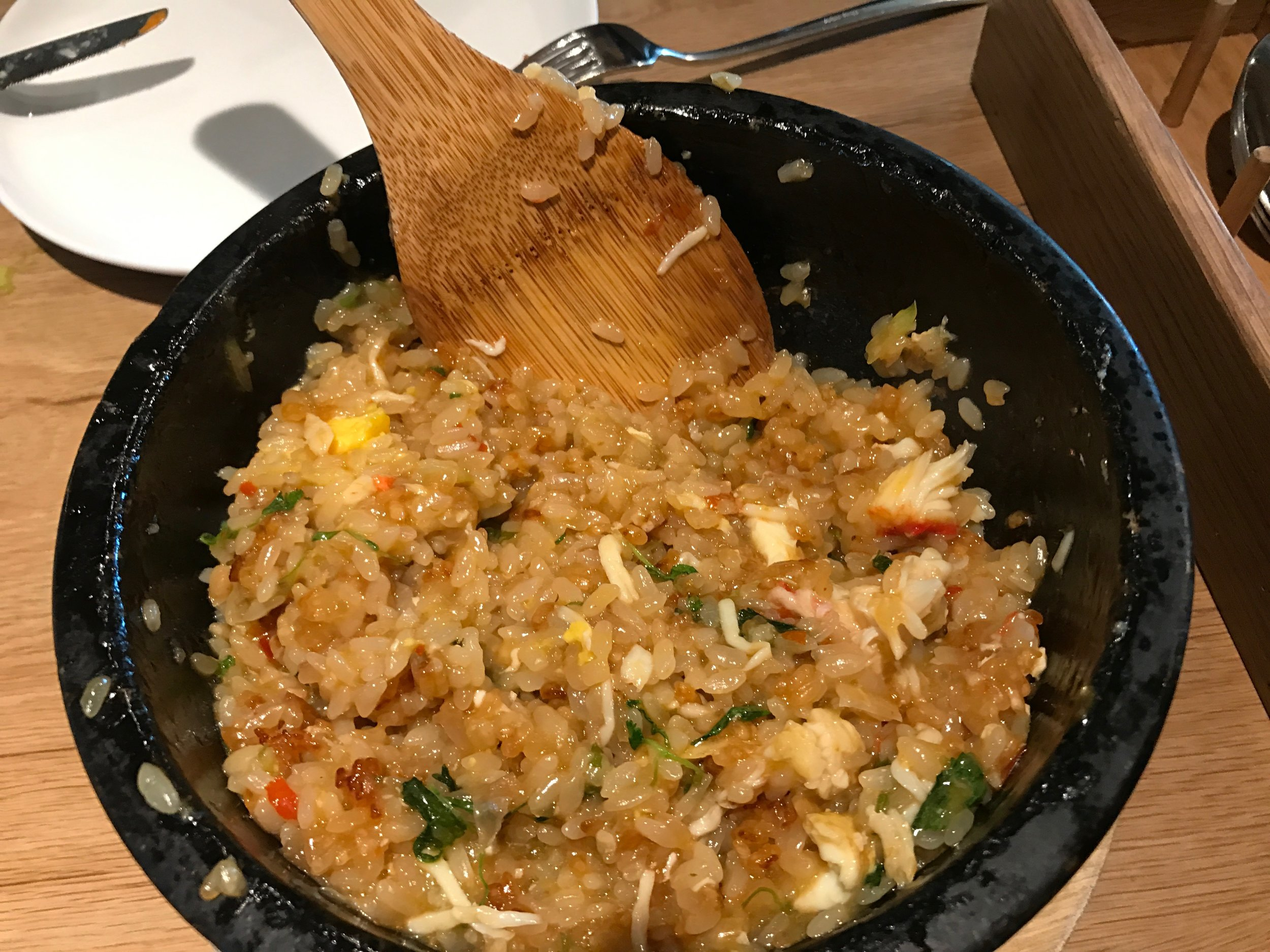 Thai Fried Rice Stone Pot With King Crab