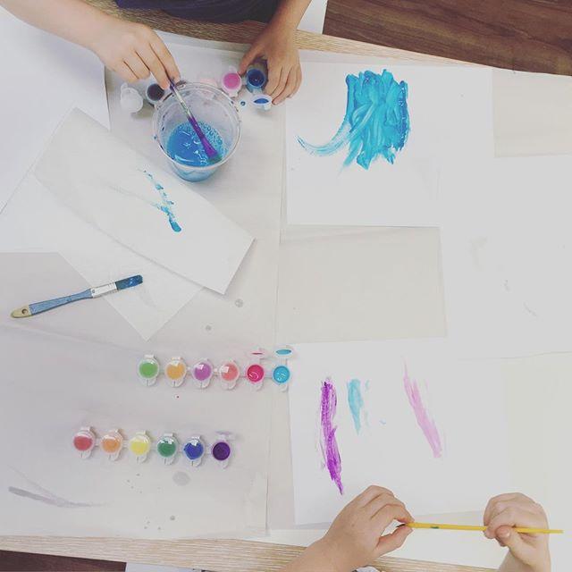 #saturdaypainting #kidart fun with #color