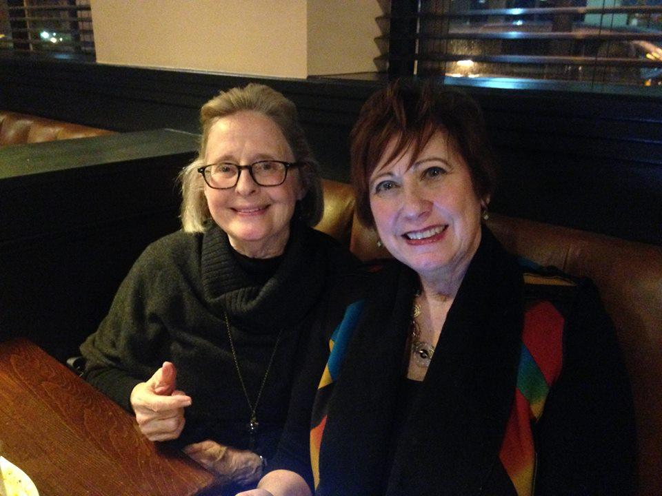Anita Harris and Susie Bradford at Mimi Blue Meatballs in Carmel