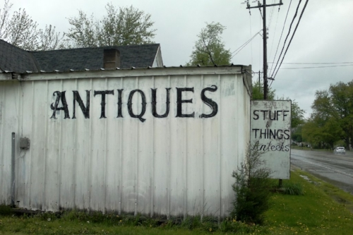 Ha! Take that Pennsylvania. We have a store that sells stuff AND things. Do you think there was an argument about how to spell antiques?