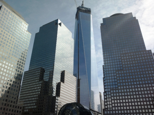 The new World Trade Center tower.