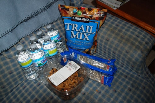 Denise, Mike, and Sami's snack pack.