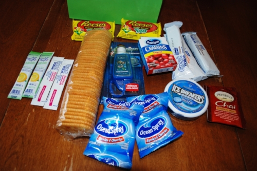 Kendal and Carter's care pack.