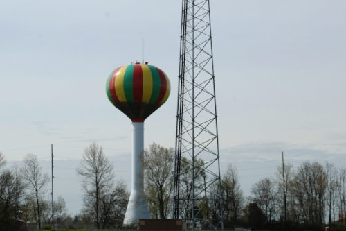 From a distance, we both thought this was actually a hot-air balloon.