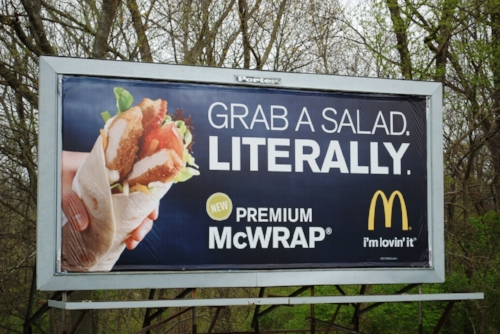 Not once have we been tempted to grab a salad. Literally.