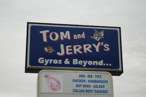 We're not sure if it was the idea of mouse and cat gyros, or the blatant copyright infringement, but either way, this establishment was no longer open.