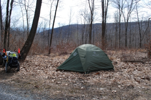 Camping on the Sideling Hill Summit