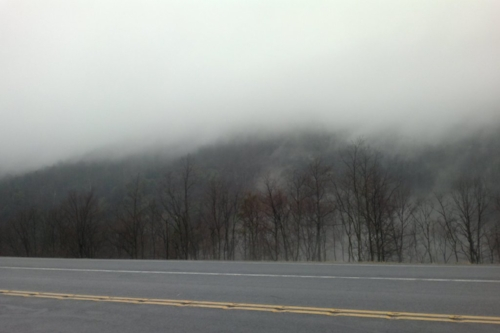 Oh good, fog. That's just what we need.