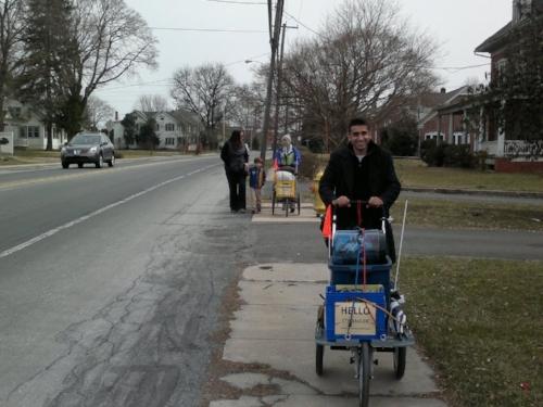 Raavi takes over the cart pushing duties
