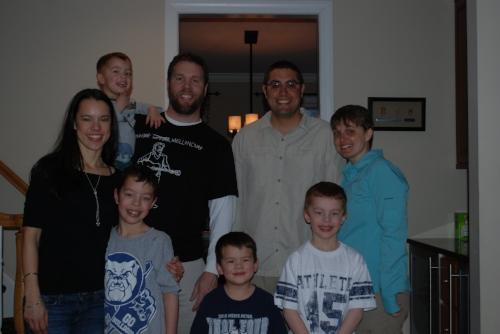 The whole family. From left to right, Sandra, Hudson, Blake, Tom, Quinn, JM, Nolan, and Tara.