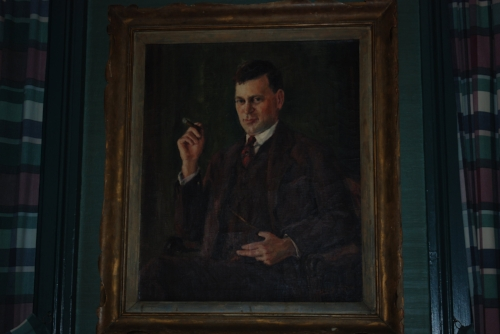 Tara thinks John-Michael should get a painting of himself similar to this. This painting has nothing to do with the aforementioned artist. It's just a bit of awesome that hangs on the walls of the Inn.