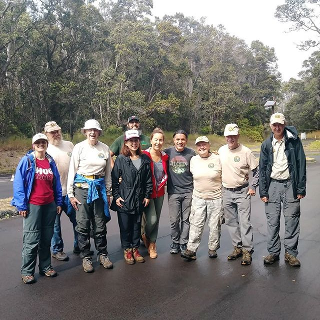 This makes it official! Volunteer project 71! Tackling the invasive Himalayan Ginger with a great volunteer group from Volcanoes National Park.
