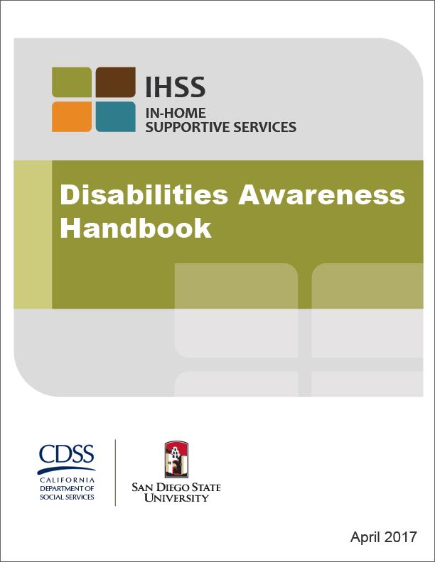 IHSS Disabilities Handbook Cover