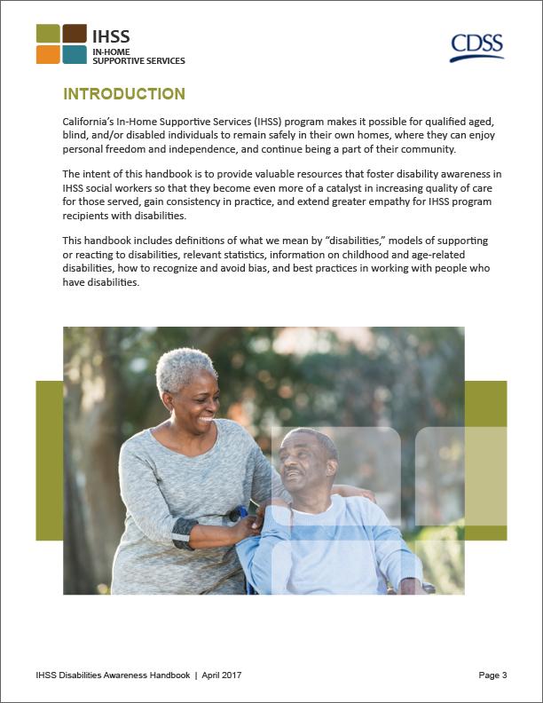 IHSS Disabilities Handbook Interior Page