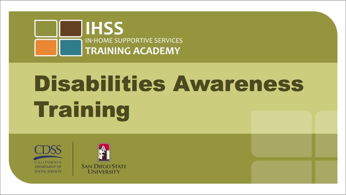 IHSS Disabilities PPT Title Page