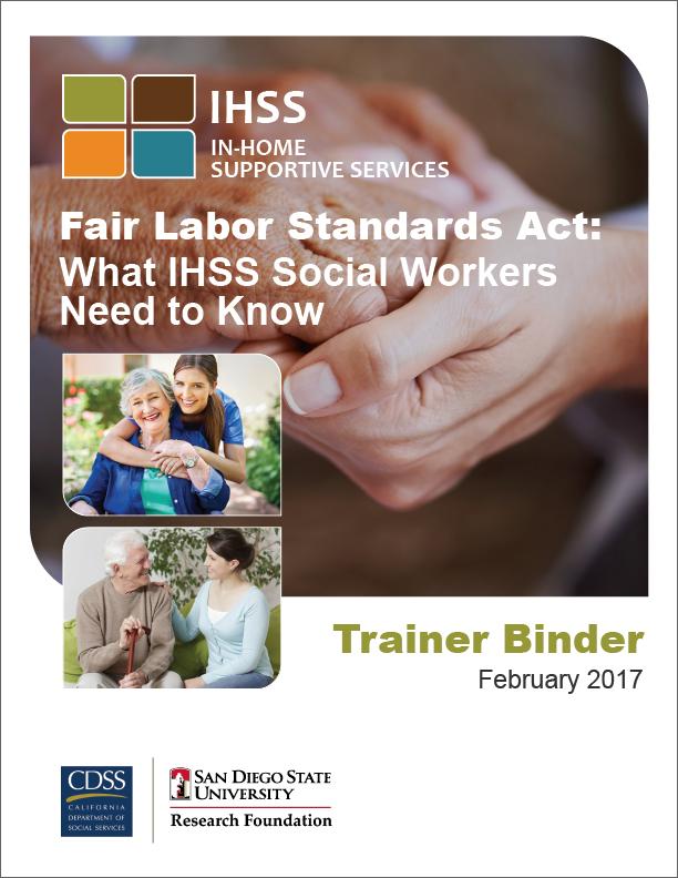 IHSS Fair Labor Standards Act Training Binder Cover