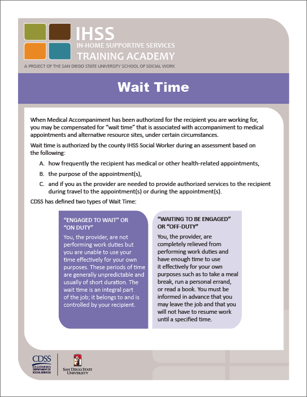 IHSS Provider Orientation Guide Handout