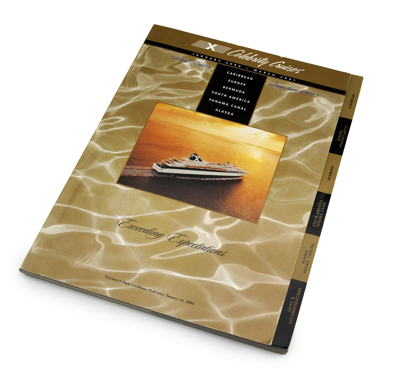 The cover of the International Fleet Catalog. Luxury just oozing out. Tabs on the side for quick access to sections of the catalog {a printer's nightmare}.