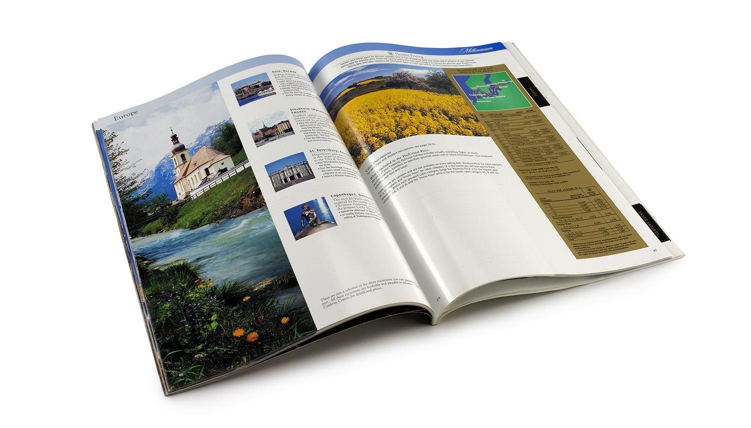 The destination section of the International Fleet Catalog gave a description of the area, excursions and map/itinerary.