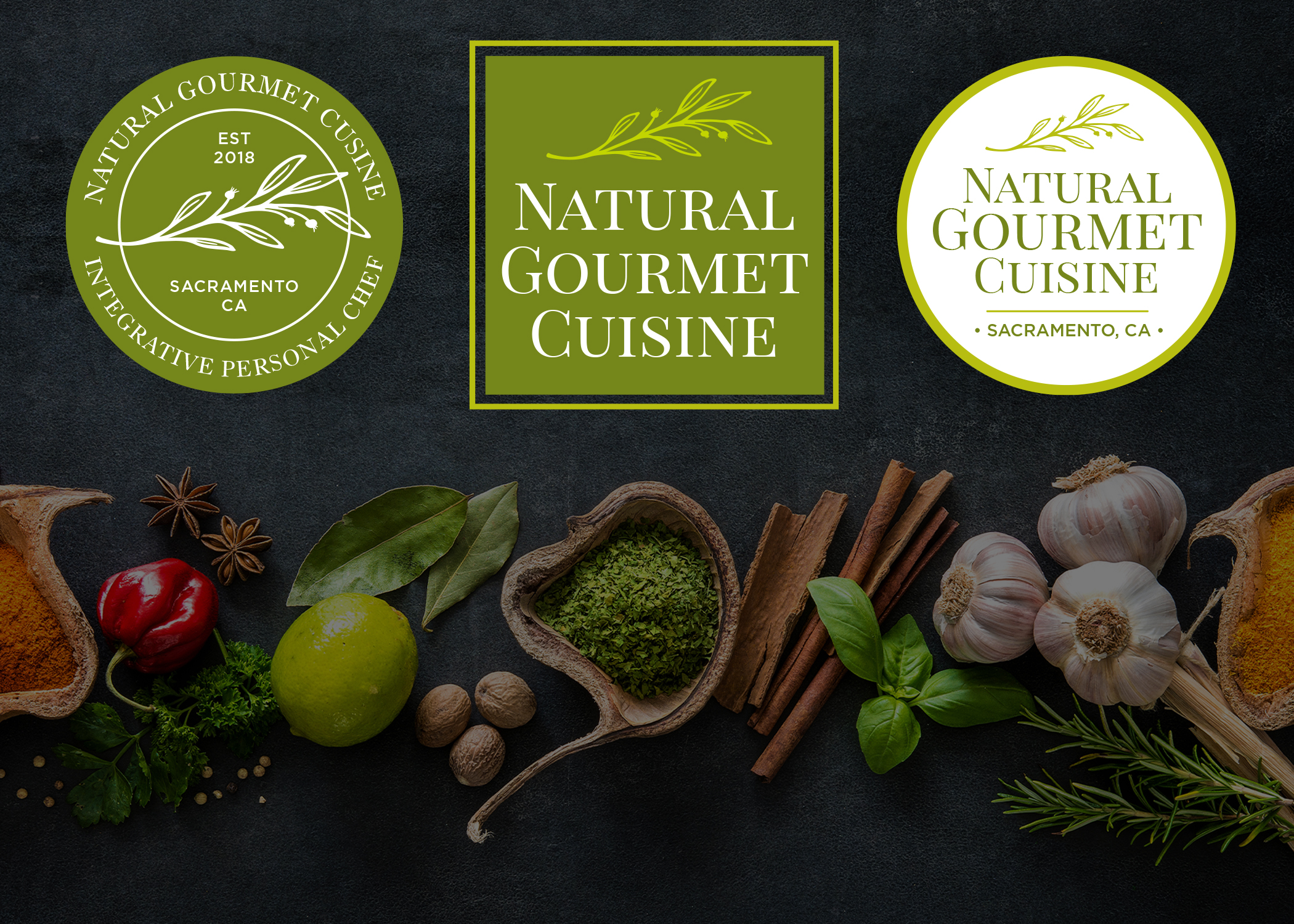 Why not provide more than one logo lockup choice? The middle one is the main one, but the others can be used as labels for pre-packaged meals.
