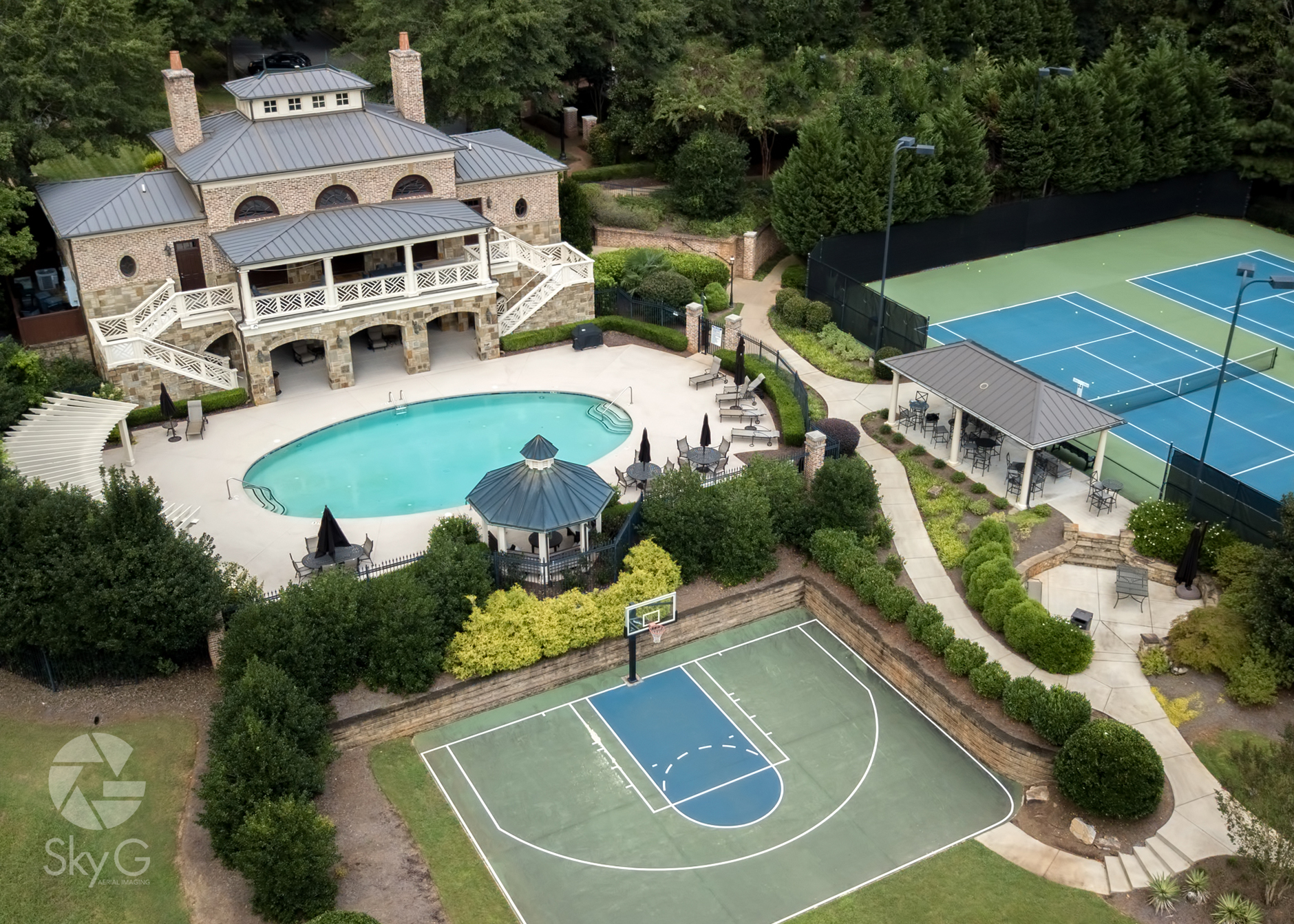 Aerial Photography - Residential Real Estate Amenities