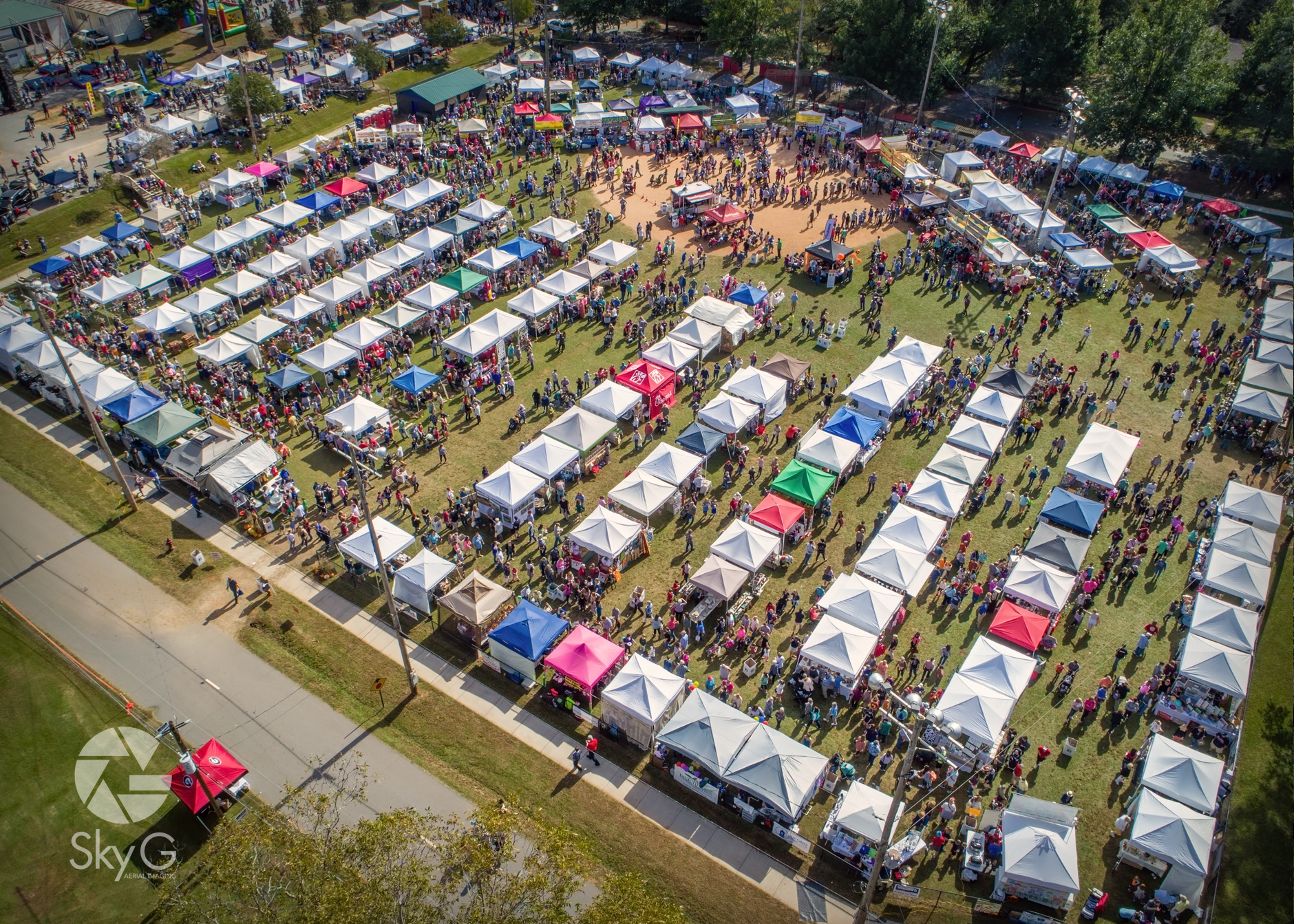 Aerial Photography - Oconee County Chamber of Commerce Fall Festival