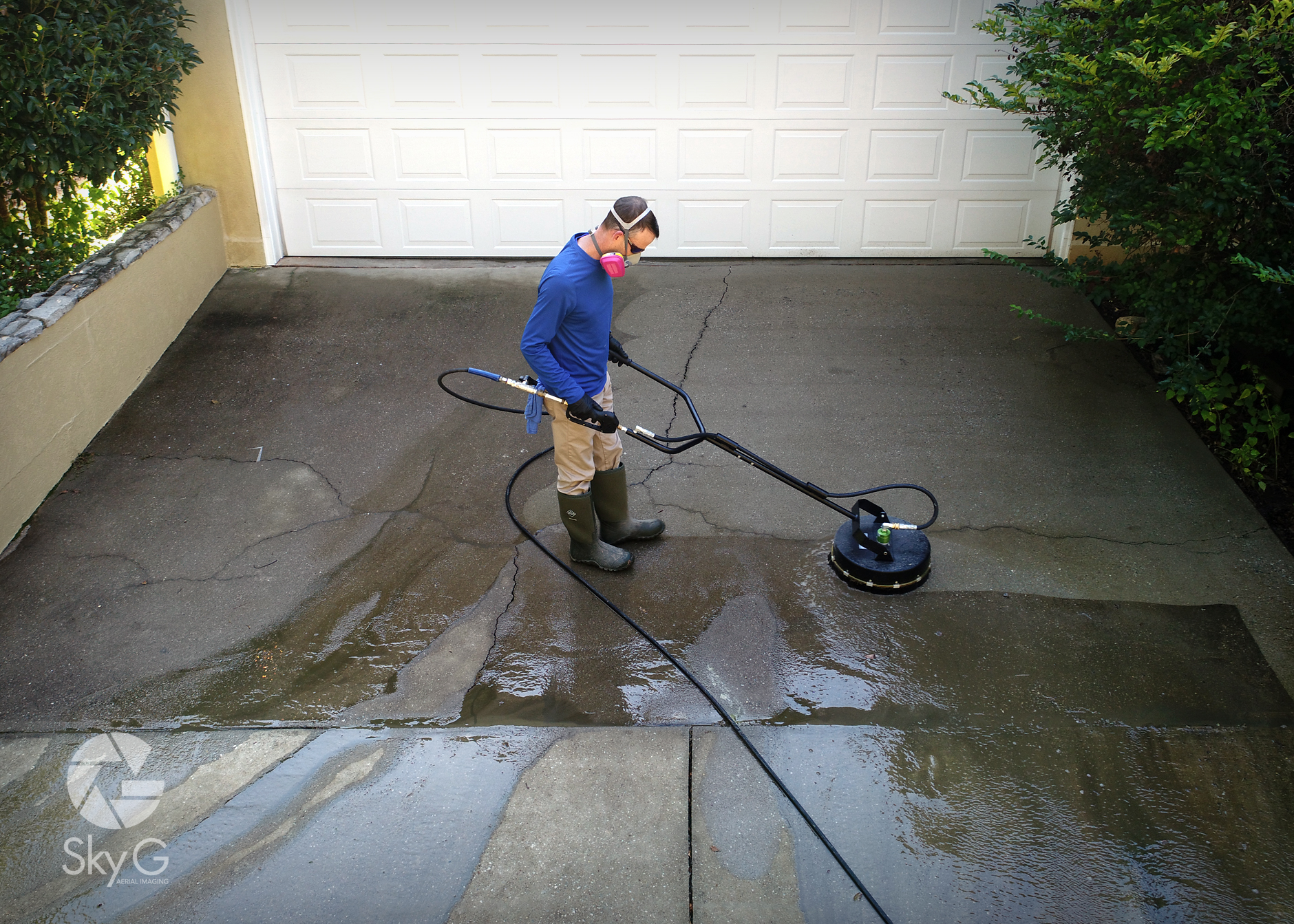 Aerial Photography - Power Washing