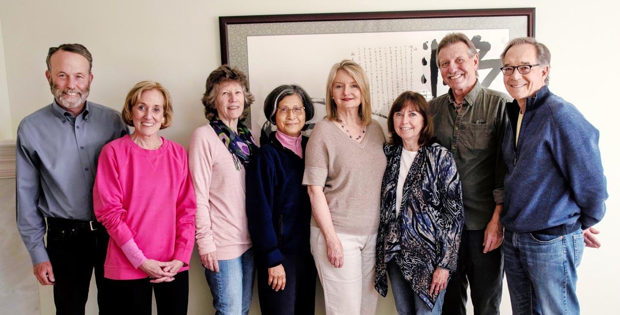 PVrrg Steering Committee - Left to Right: John Harbison, Kate Greenberg, Patricia Kasscau, Rose Ramsay, Jenene Wilson, Renata Harbison, Michael Thiel and George Kay