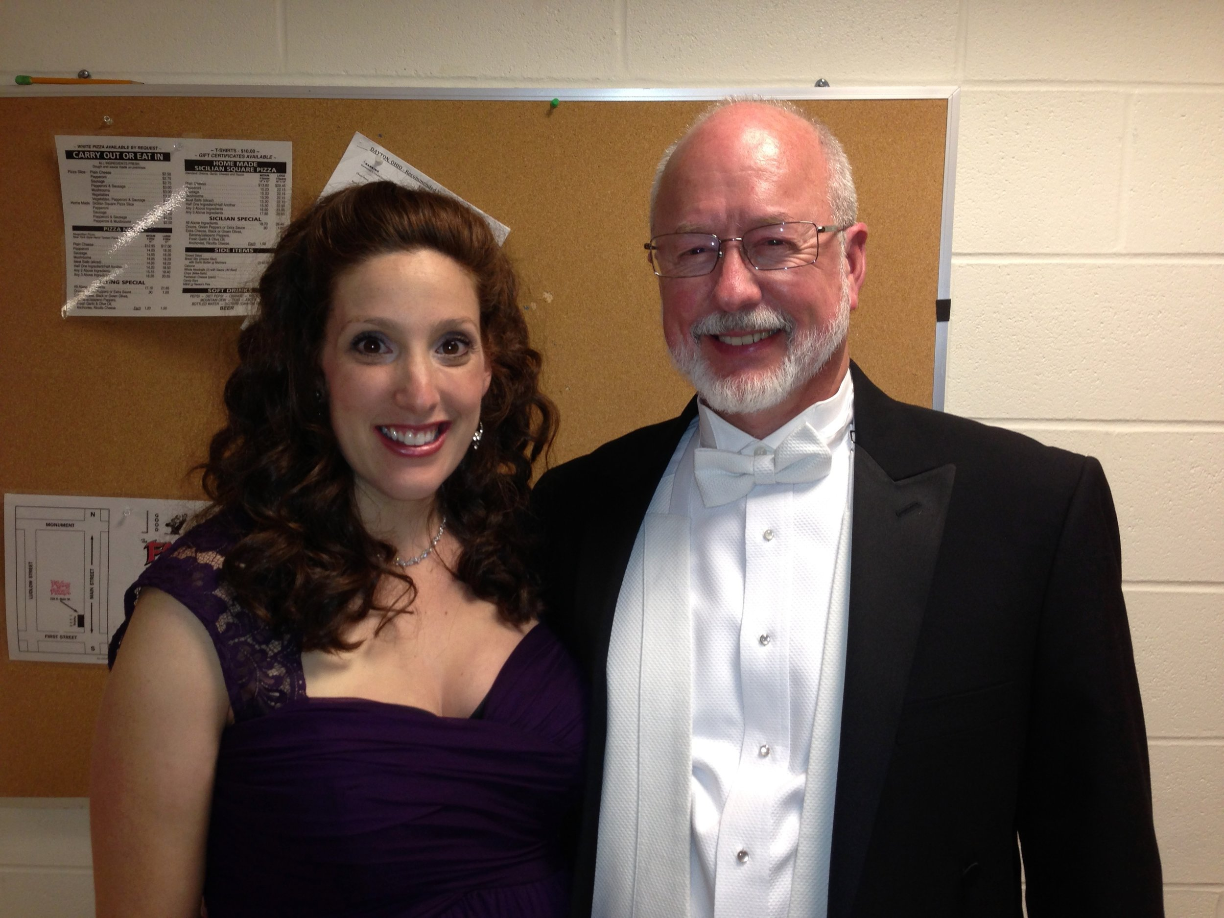 with former teacher and mentor William McGraw, soloists for Brahms Requiem with Dayton Philharmonic