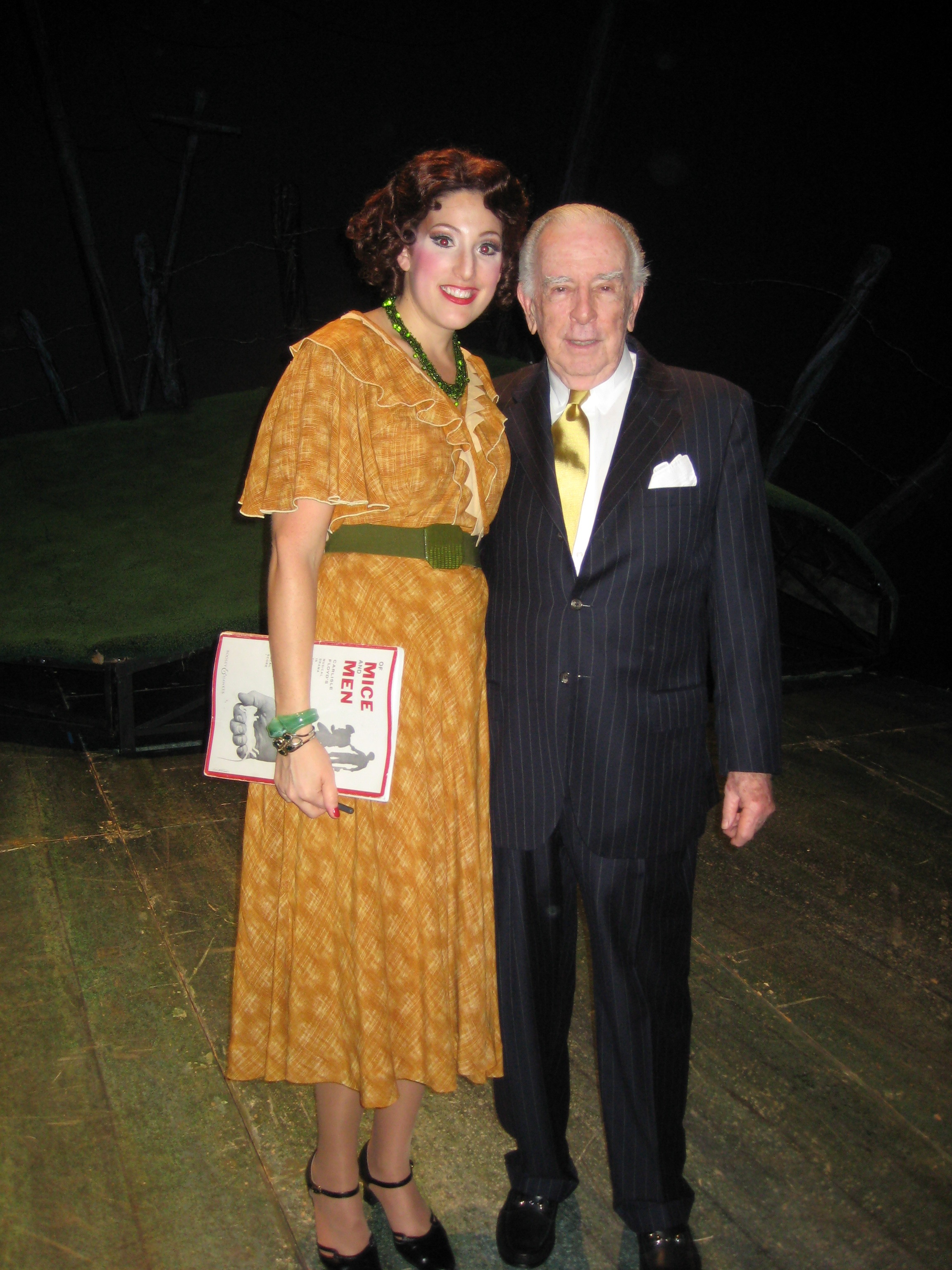 with composer Carlisle FLoyd at Kentucky Opera for 'Of mice and men'