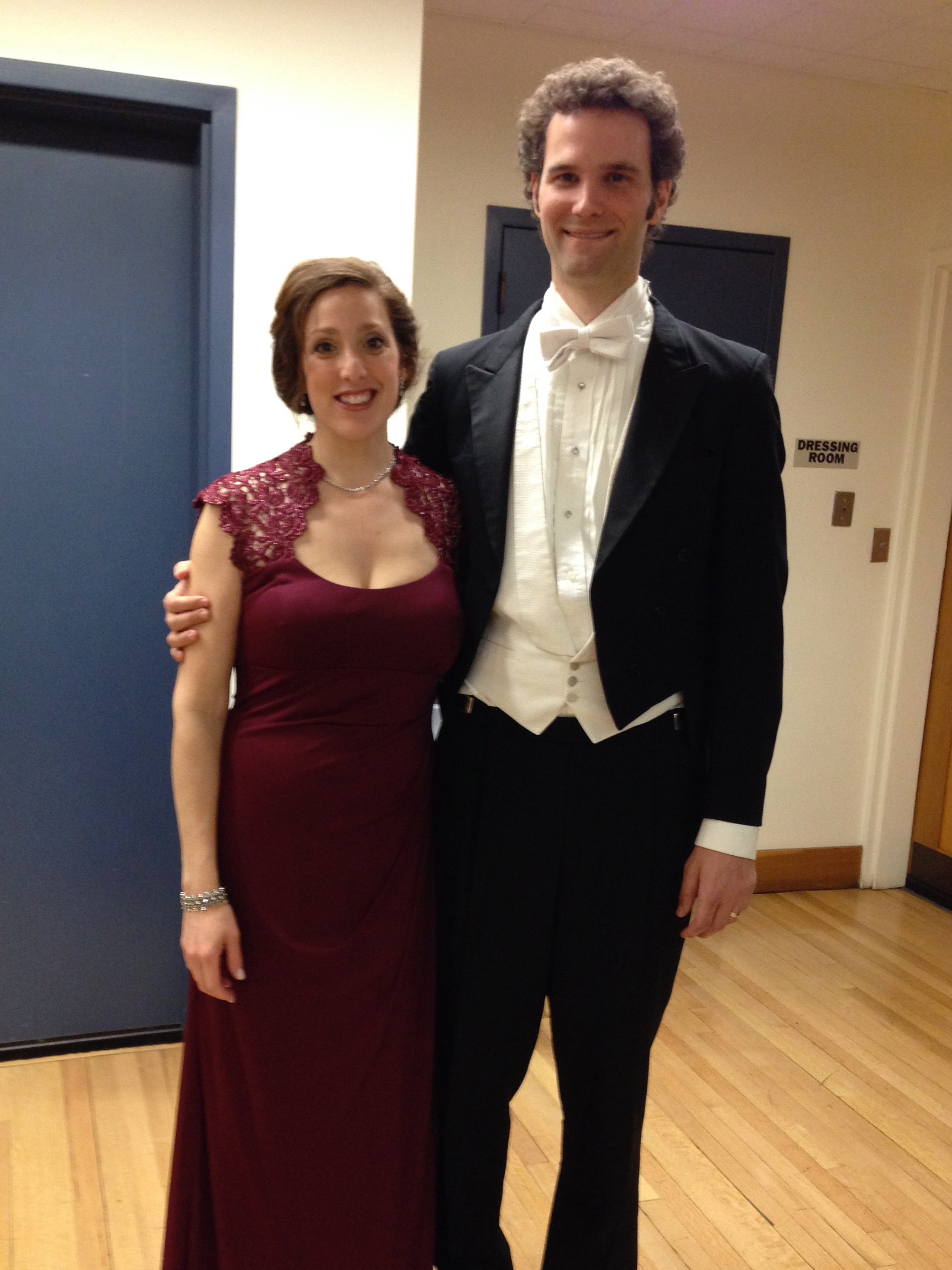 with husband and tenor Gregory Zavracky, soloists with Harvard-Radcliffe Chorus