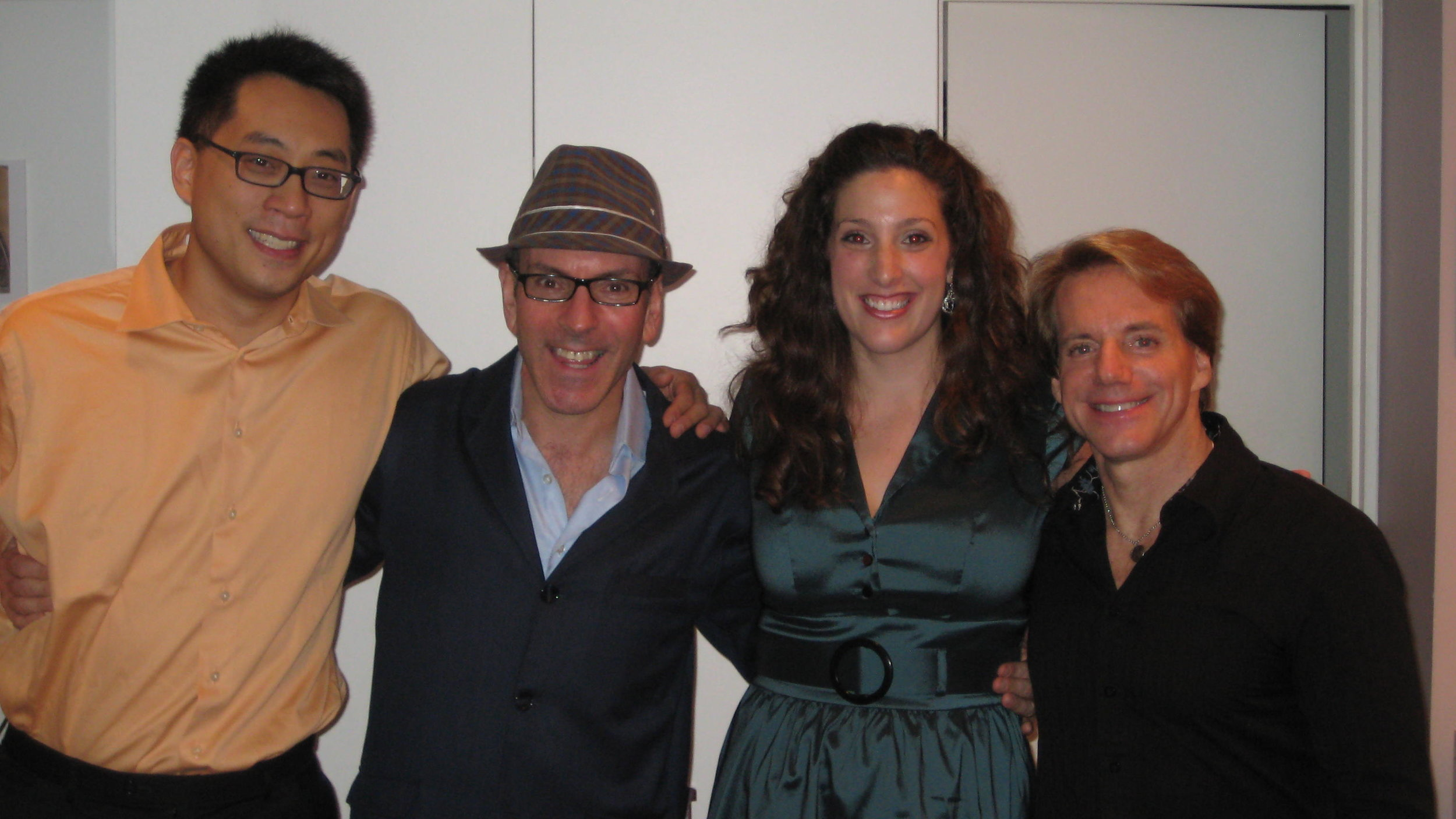 with pianist Melvin Chan, composer Ricky Ian Gordon, clarinetist Todd Palmer, Orpheus and Euridice, Five Boroughs Music Festival