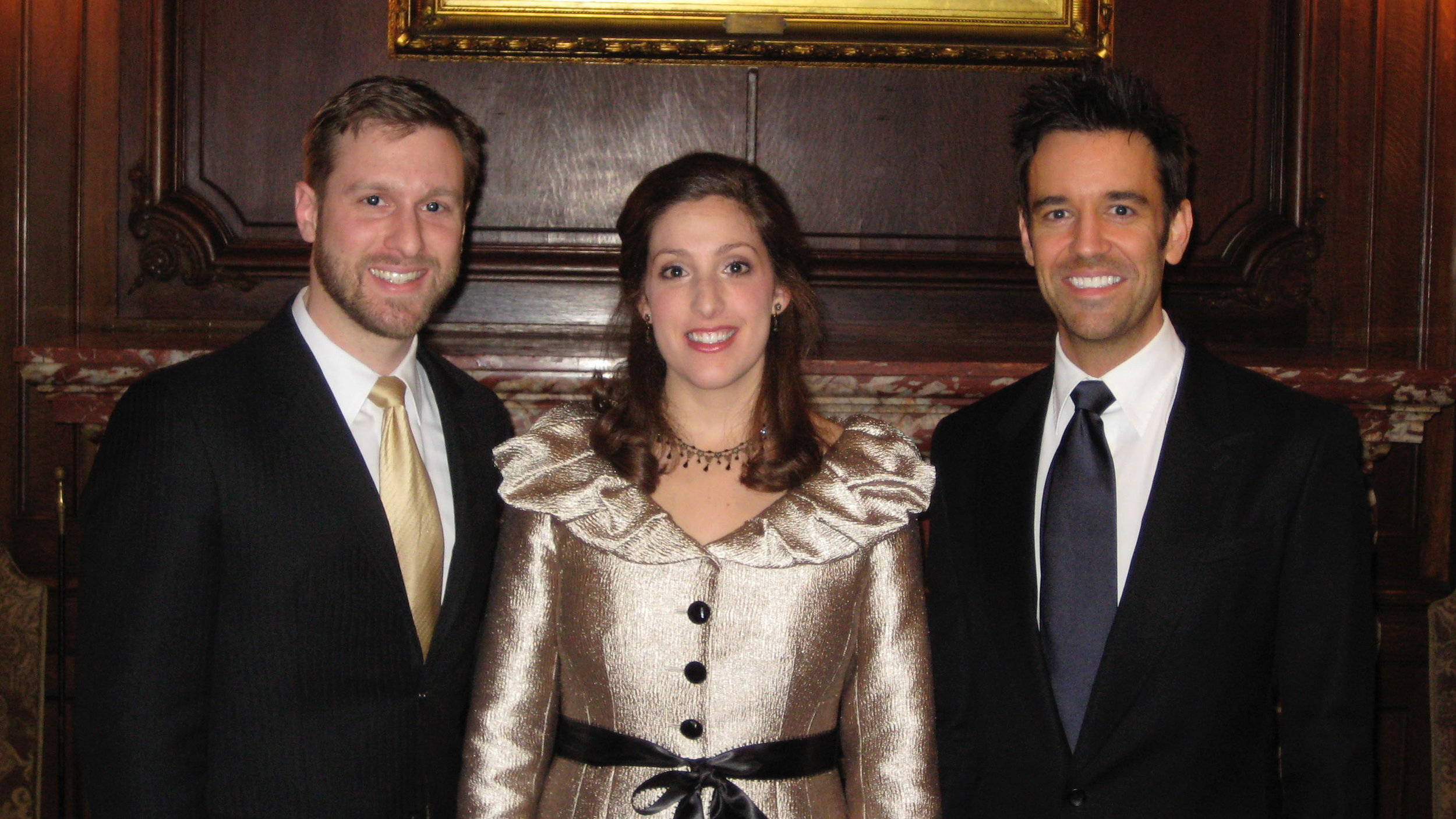 with baritone Jesse Blumberg and pianist Cameron Stowe (The Harbor Trio)
