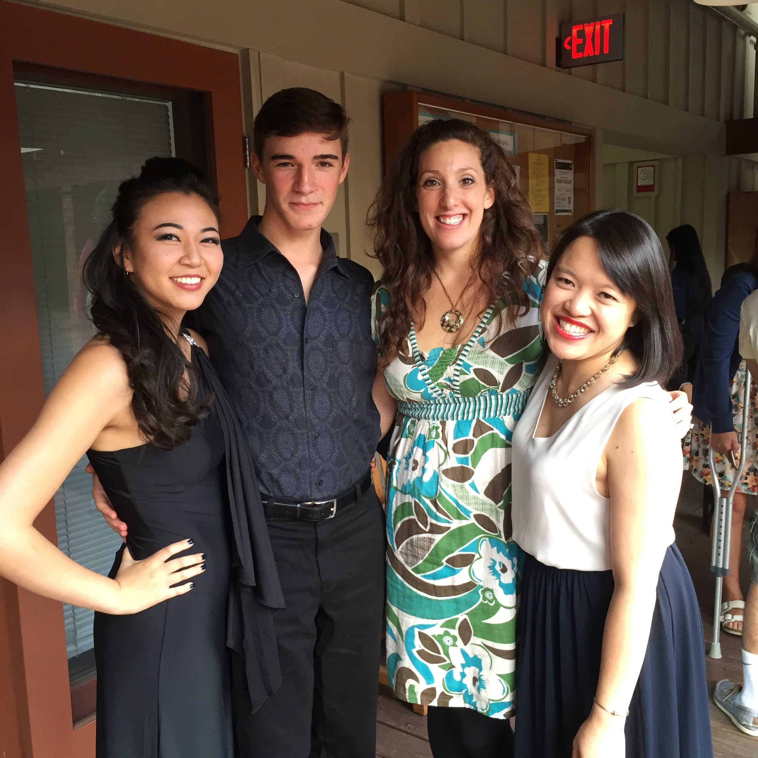 Students in honors recital and pianist Patricia Au at BU Tanglewood Institute