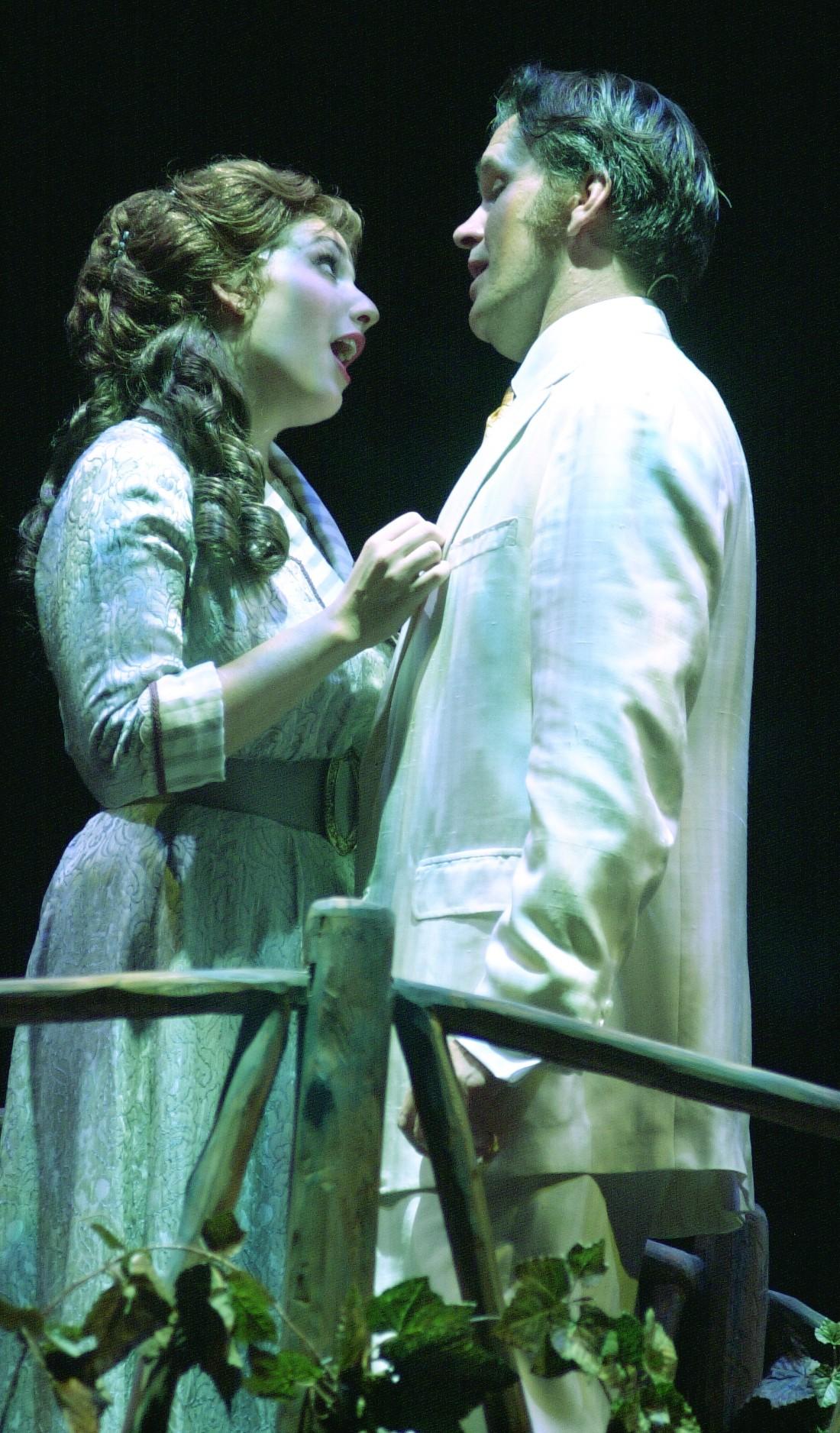 as Marian with George Dvorsky, The Music Man, Chautauqua Opera (photo by Roger Coda)