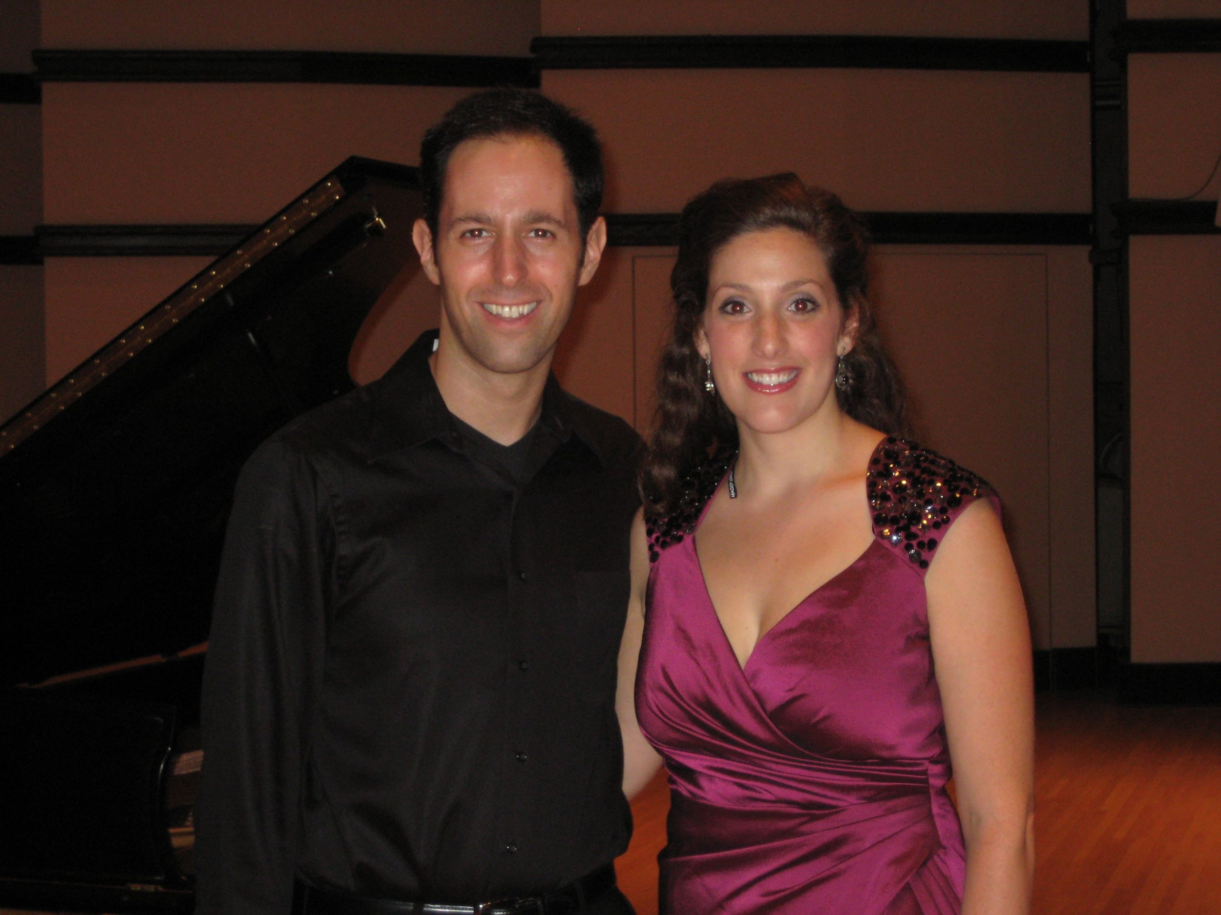 with pianist Spencer Myer, Steans Institute Ravinia Festival