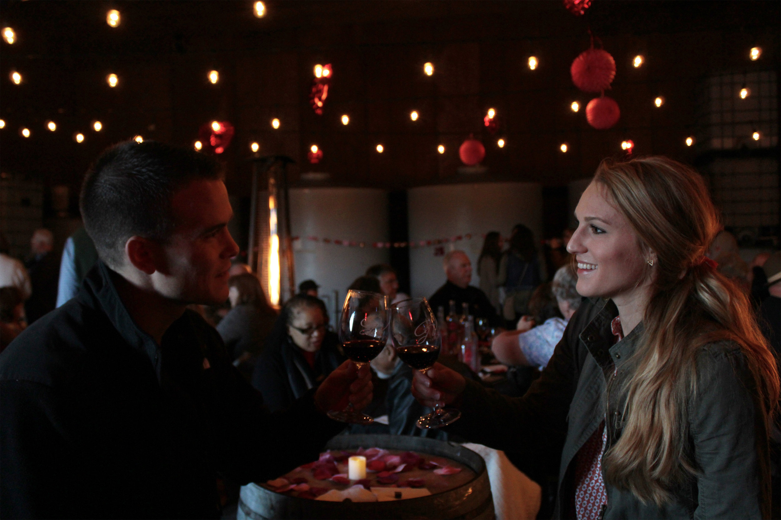 Wine & Chocolate Tasting includes: Wine paired with chocolate:2015 Lapis Luna Chardonnay, 2014 Dolcetto, 2014 Syrah, White Label 2013 Cabernet Sauvignon. Barrel tasting:2015 Dolcetto, 2015 Syrah. Complimentary tasting:Platinum 2014 Old Vine Zinfandel