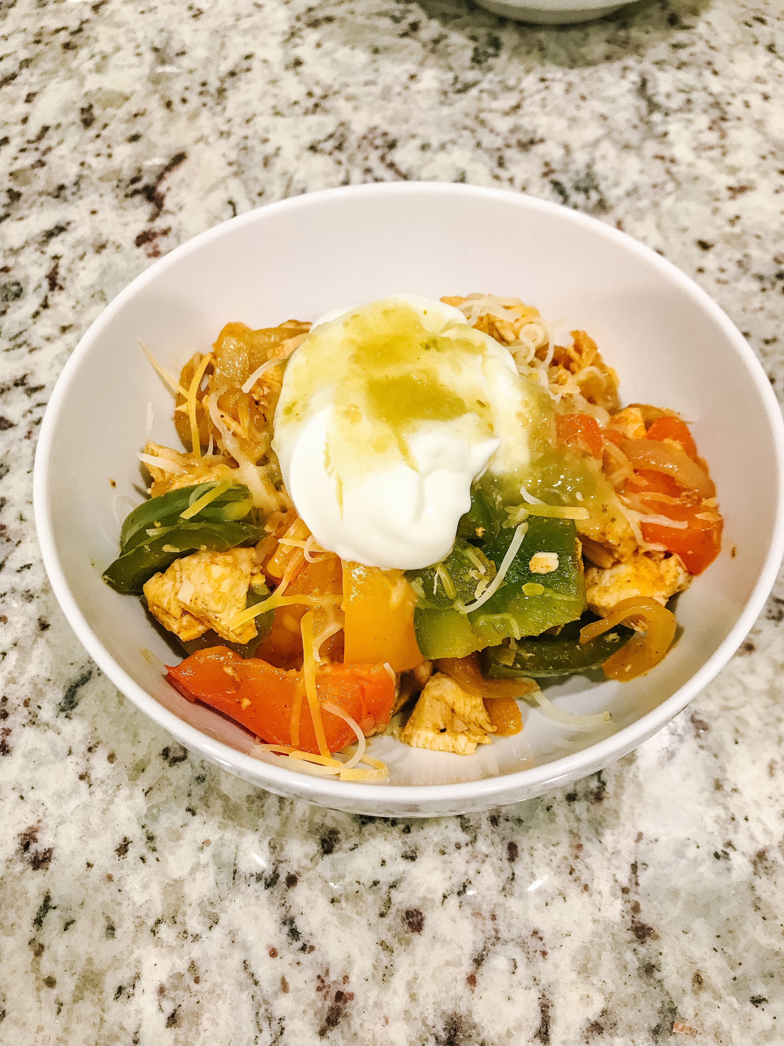 Healthy Lifestyle Food and Exercise Inspiration: Enchilada Chicken Rice Bowl
