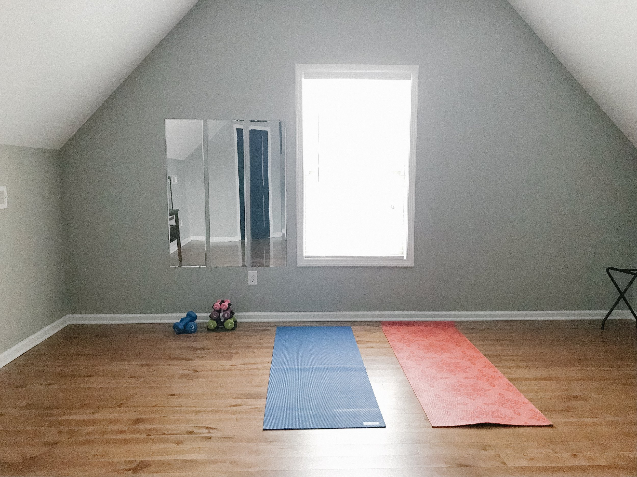 Healthy Lifestyle Food and Exercise Inspiration: Home Gym