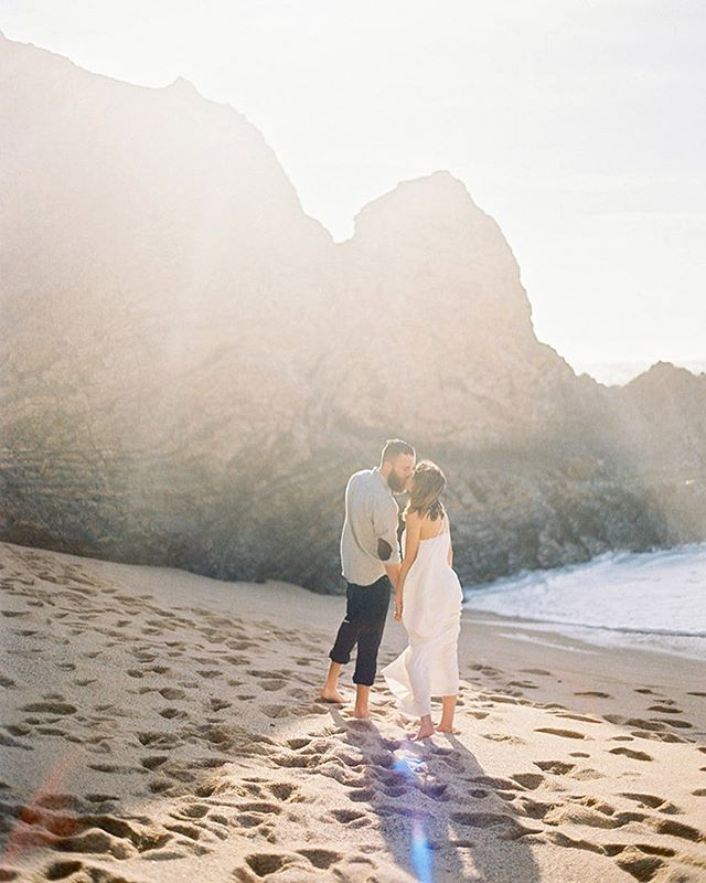 """Come, my love, we have oceans to sail"" // Saul Williams // featured on @oncewed⠀ ⠀⠀ ⠀⠀ ⠀⠀ #bigsur #californiaengagement #bigsurengagement #bigsurwedding #filmphotographer #californiawedding #engagementsession #engagementring #engagementphotos #engagement💍 #californiabride #beachwedding #30a #luxurywedding #marthaweddings #voguebridal"